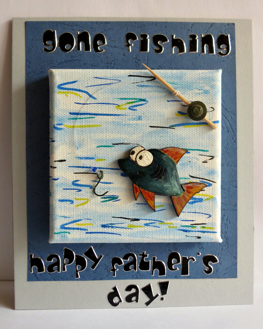 Gone fishing father 39 s day card for Father s day fishing card