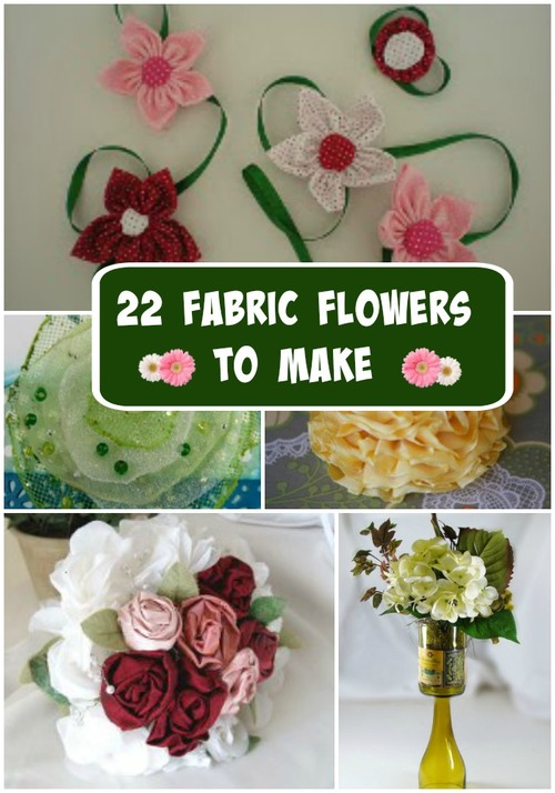 22 Fabric Flowers To Make