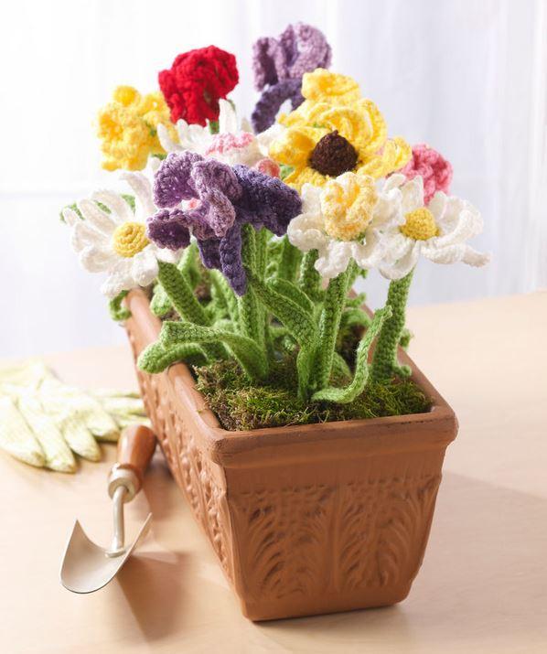Crochet garden diy wedding centerpieces