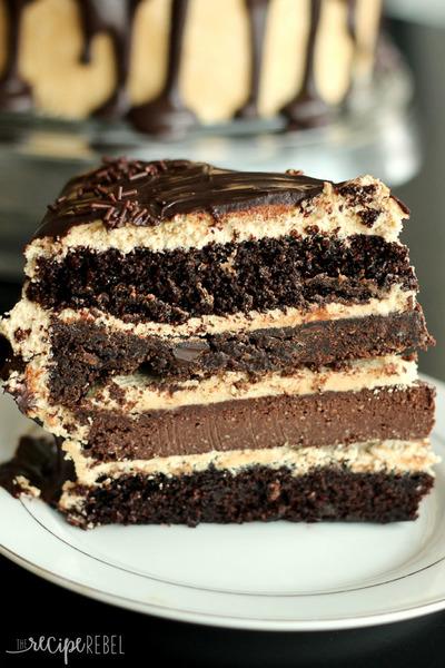The Ultimate Chocolate Peanut Butter Cake | RecipeLion.com