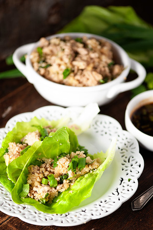 Better Asian Lettuce Chicken Wraps
