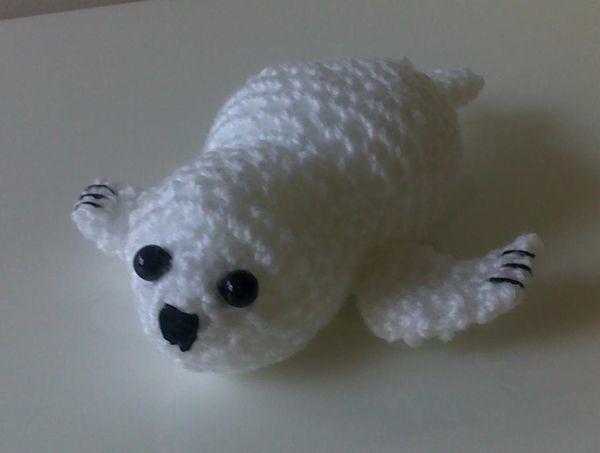 Crochet Amigurumi Seal : Crochet Baby Seal FaveCrafts.com