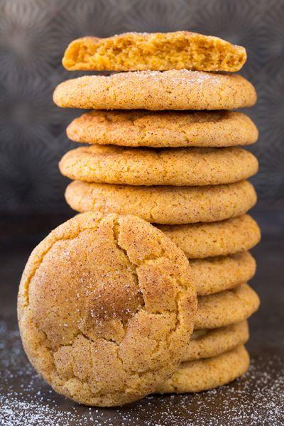 two ingredient pumpkin spice cookies pumpkin snickerdoodles pumpkin ...