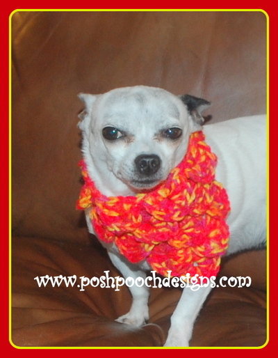 Free Crochet Pattern For Dog Bandana : Crocodile Stitch Dog Bandana AllFreeCrochet.com