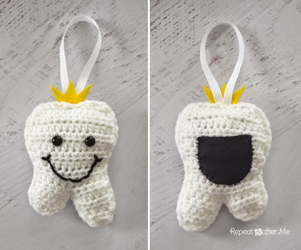Free Crochet Patterns For Pillow Pets : Crochet Tooth Fairy Pillow AllFreeCrochet.com
