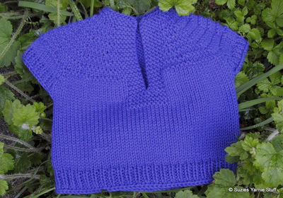 Sleeve Knitting Pattern : Toddler Short Sleeve Knit Pullover AllFreeKnitting.com
