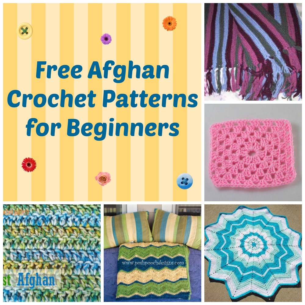 Easy Crochet Afghan Patterns For Beginners Free : 13 Free Afghan Crochet Patterns for Beginners ...