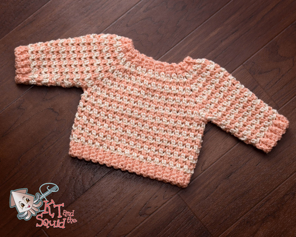 Striped Newborn Crochet Sweater Pattern FaveCrafts.com