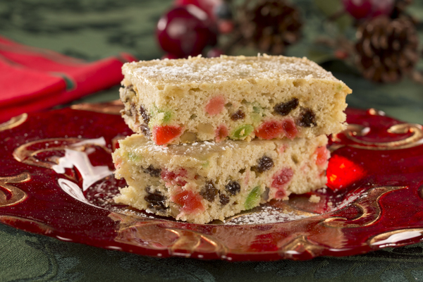 Applesauce Fruitcake Bars | mrfood.com