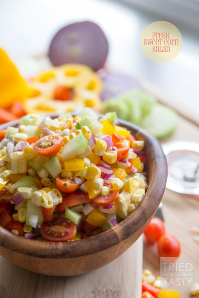 Fresh Sweet Corn Salad