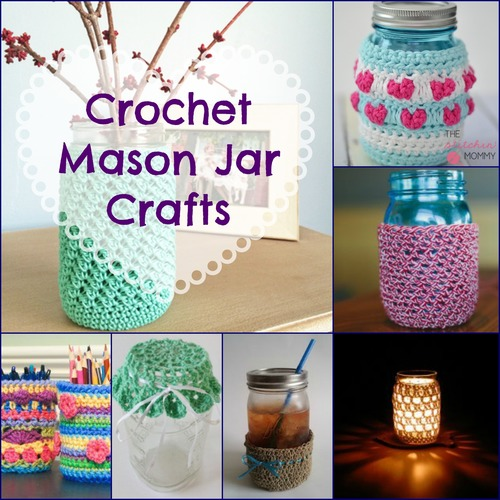 Crochet Patterns Jar Lids : 16 Crochet Mason Jar Crafts AllFreeCrochet.com