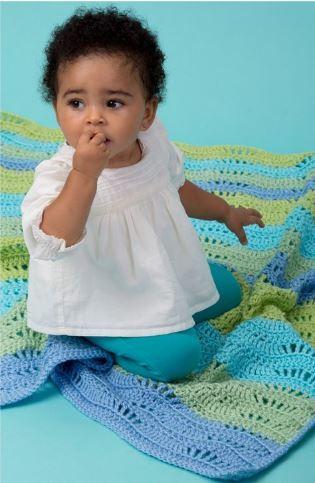 Naptime Ripple Baby Afghan