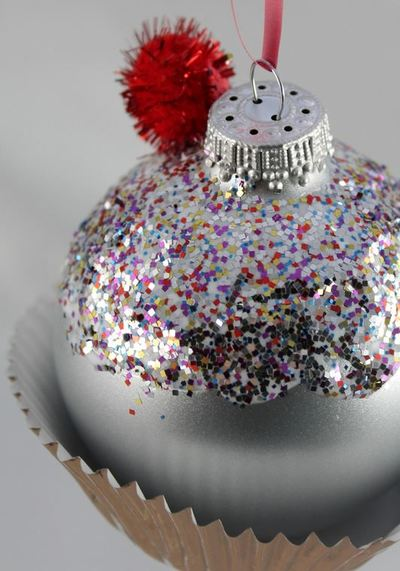 Glittery Cupcake DIY Ornament