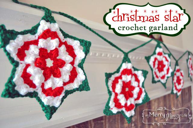 Crochet star granny garland allfreecrochet