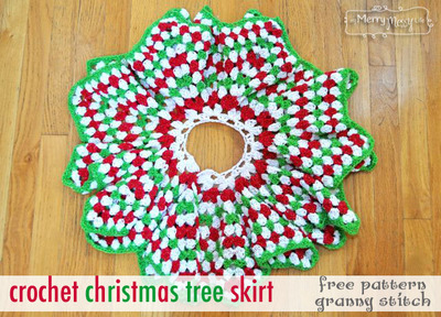 Granny Star Crochet Tree Skirt