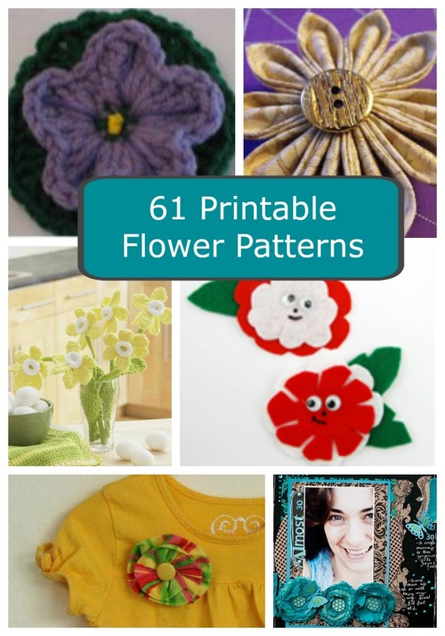 61 Printable Flower Patterns