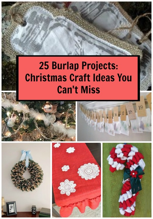 25 Burlap Projects: Christmas Craft Ideas You Can't Miss