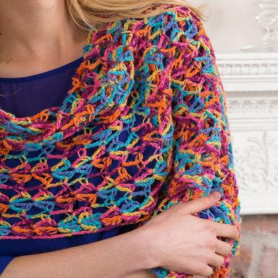 Neon Light Crochet Shawl