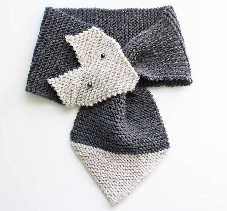 Beginner Knitting Patterns Scarf : Foxy Garter Stitch Scarf AllFreeKnitting.com