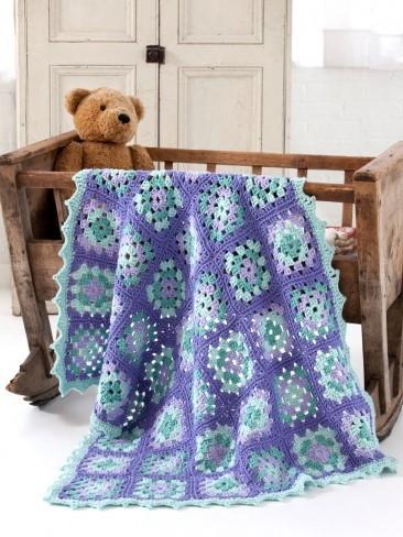 Rockabye Baby Granny Square Blanket Allfreecrochet Com