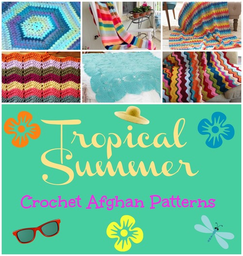 Tropical Summer Crochet Afghan Patterns