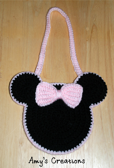 Crochet Patterns For Minnie Mouse : Minnie Mouse Inspired Crochet Bag Pattern AllFreeCrochet.com
