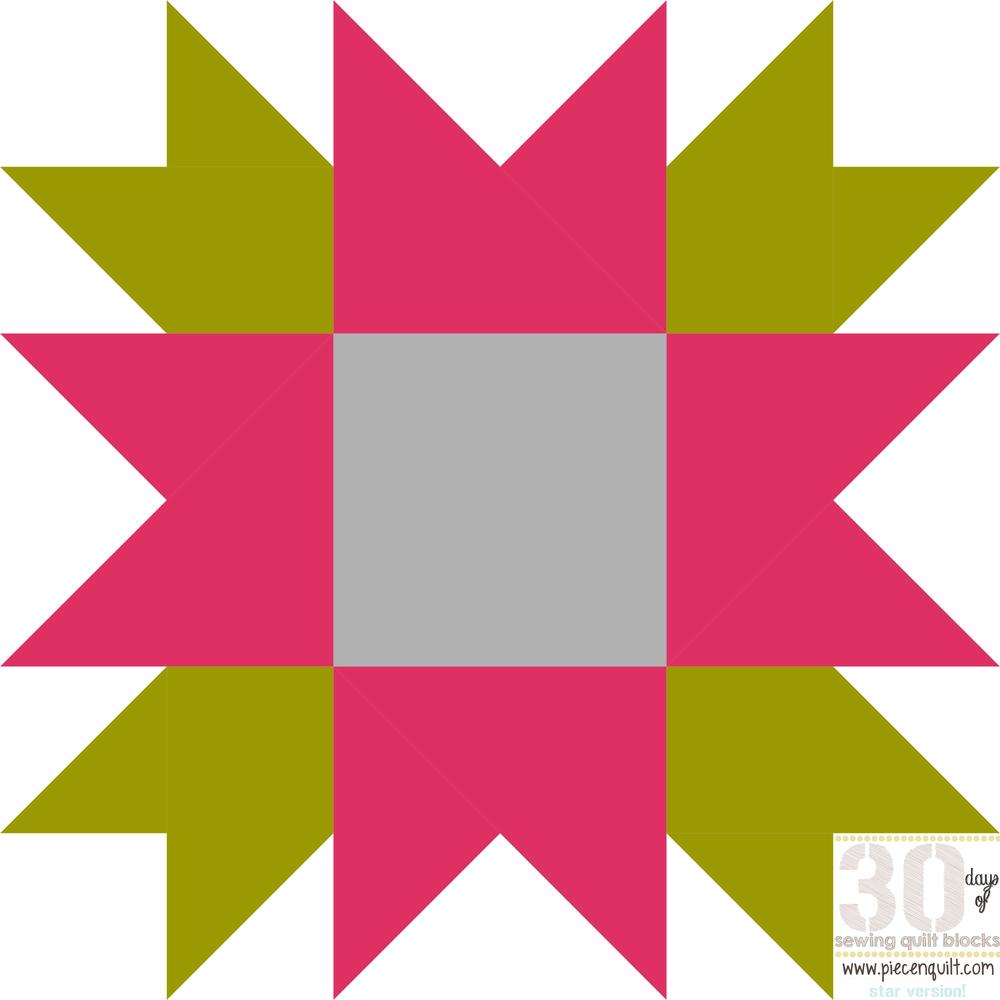 flower star quilt block pattern