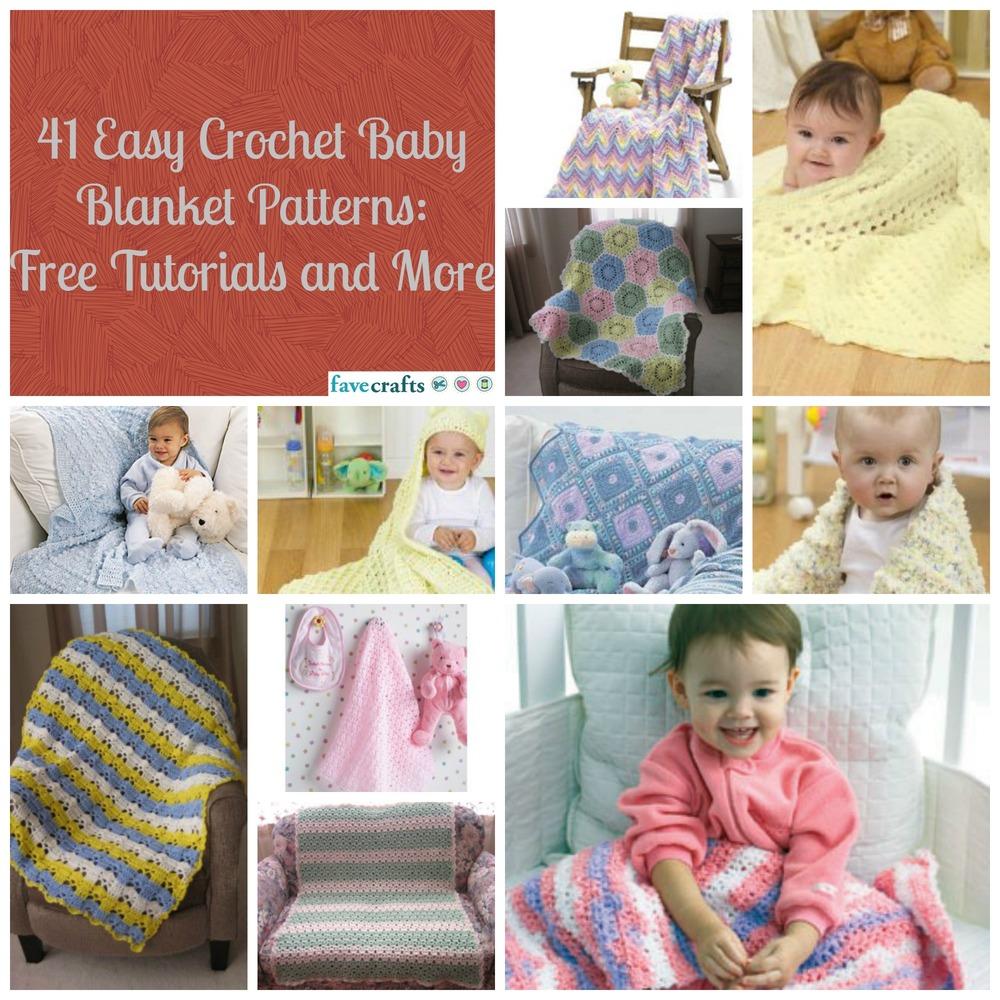 Easy Beginner Crochet Baby Blanket Tutorial : 41 Easy Crochet Baby Blanket Patterns, Free Tutorials and ...