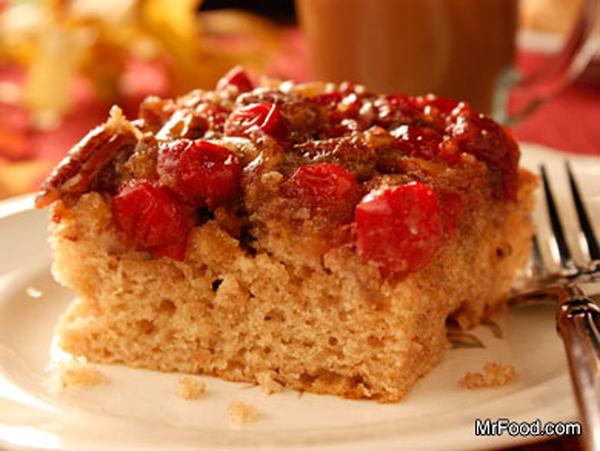 Cranberry Upside Down Cake   MrFood.com