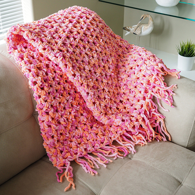 Quick And Easy Beginner Crochet Patterns : Quick n Cozy Crochet Afghan AllFreeCrochet.com