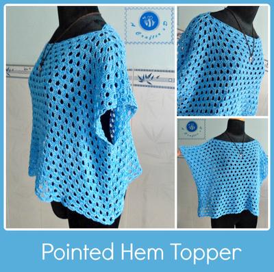 Crochet Patterns Tops : Sky Blue Crochet Top Pattern AllFreeCrochet.com