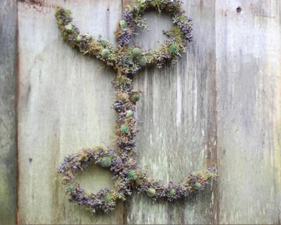 DIY Moss Wedding Monogram