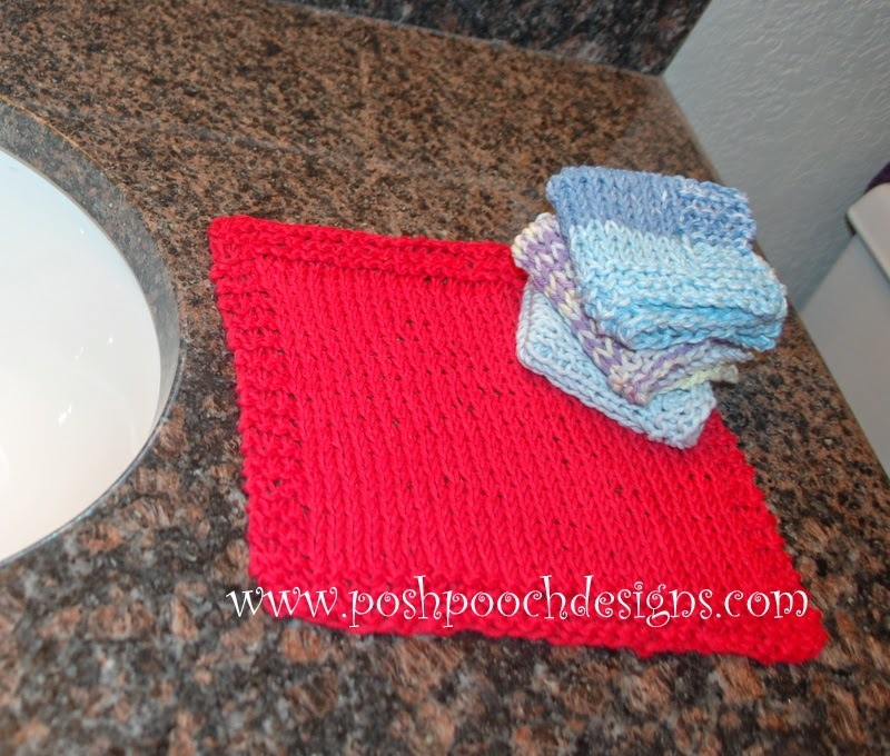 Super Easy Knitting Patterns For Beginners : Super Easy Beginner Washcloth AllFreeKnitting.com