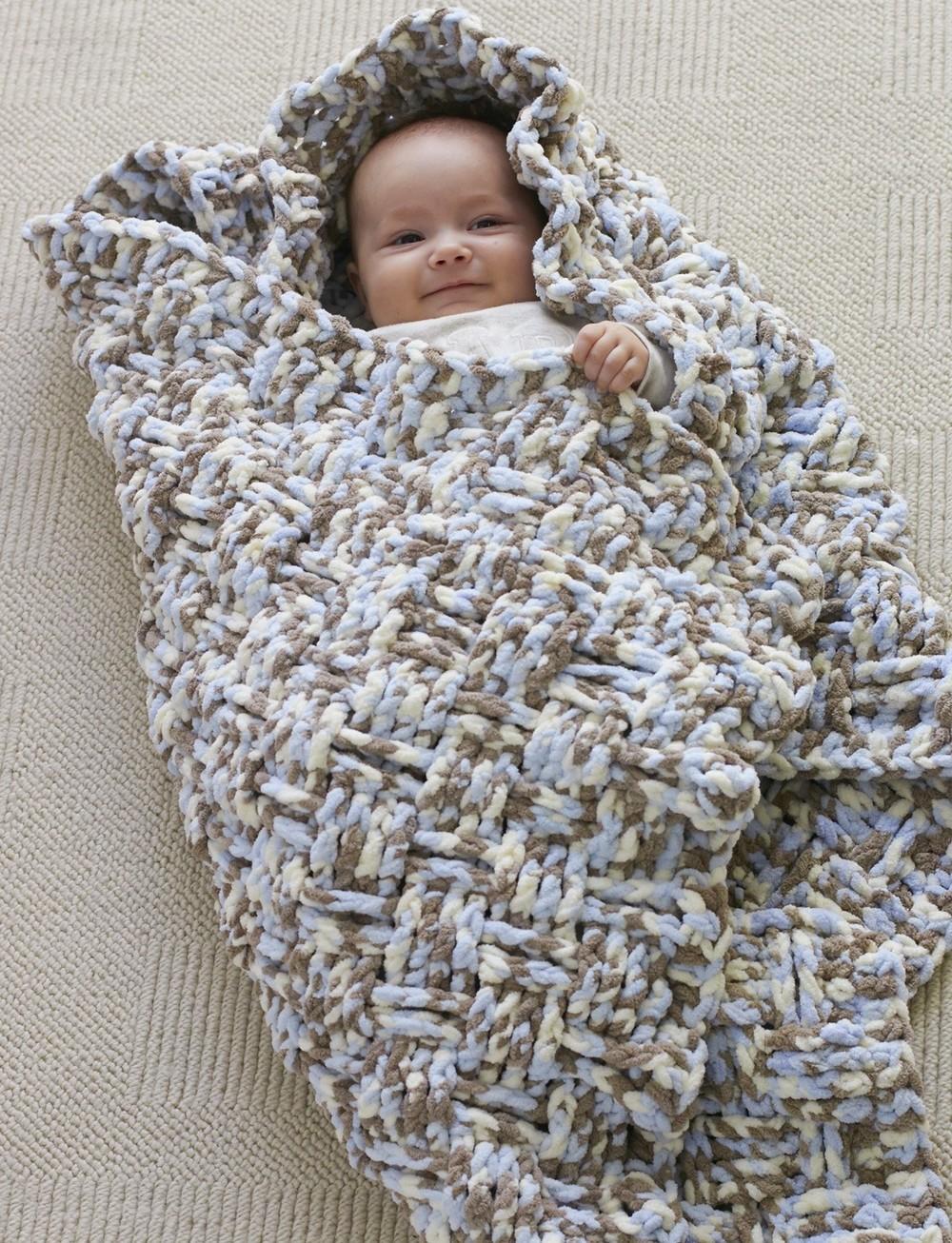 Dreamy Basket Weave Baby Blanket Pattern ...