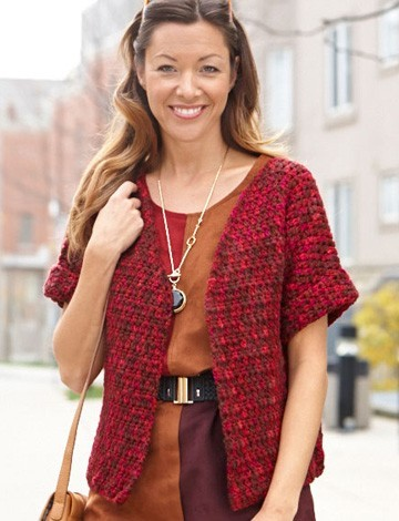 Free Crochet Pattern Short Sleeve Sweater : Go Anywhere Short Sleeve Cardigan