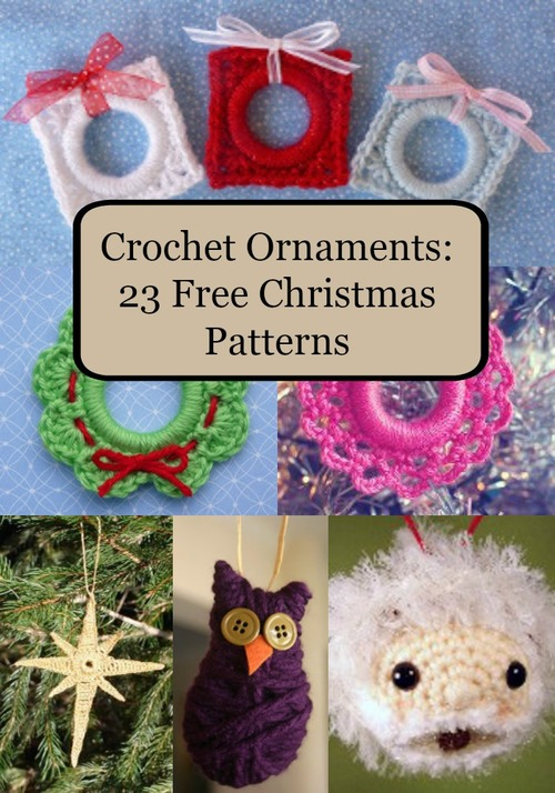 Crochet Ornaments: 23 Free Christmas Patterns