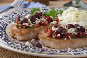 Greek Style Baked Pork Chops