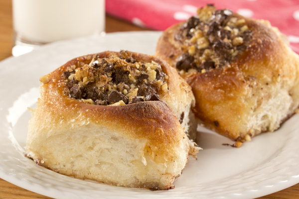 Chocolate Nut Cinnamon Buns