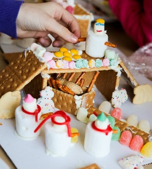 Gingerbread Nativity Manger Scene
