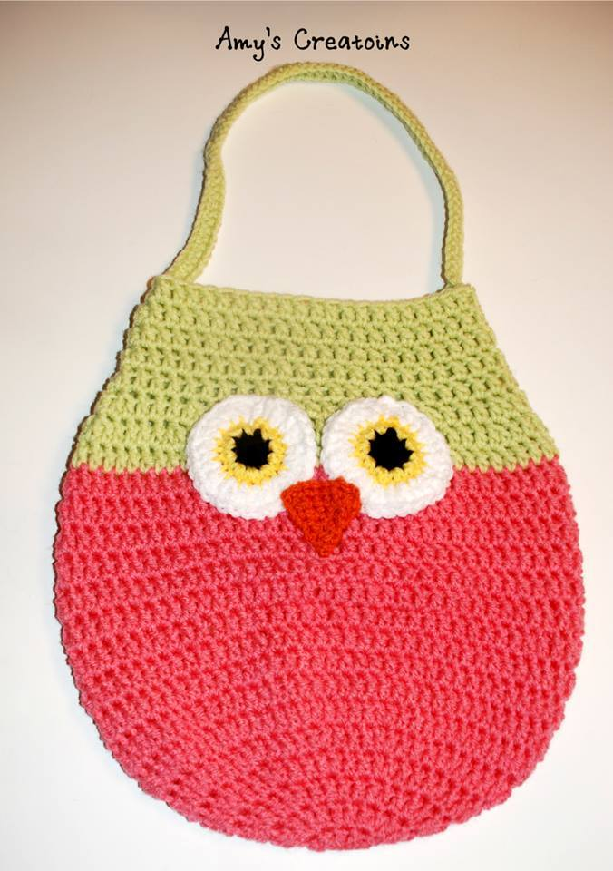 Crochet Owl Bag Pattern Free : Adorable Crochet Owl Bag AllFreeCrochet.com