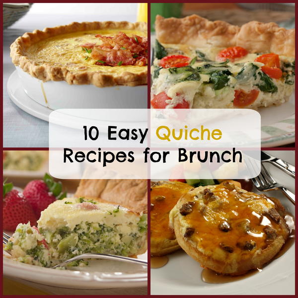 10 Easy Quiche Recipes for Brunch | MrFood.com