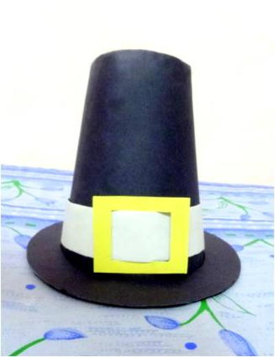 Construction Paper Pilgrim Hat