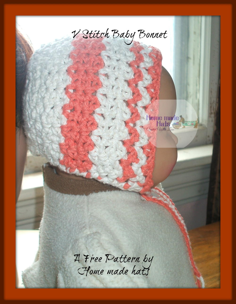 Crochet Stitches V-St : Stitch Crochet Baby Bonnet AllFreeCrochet.com