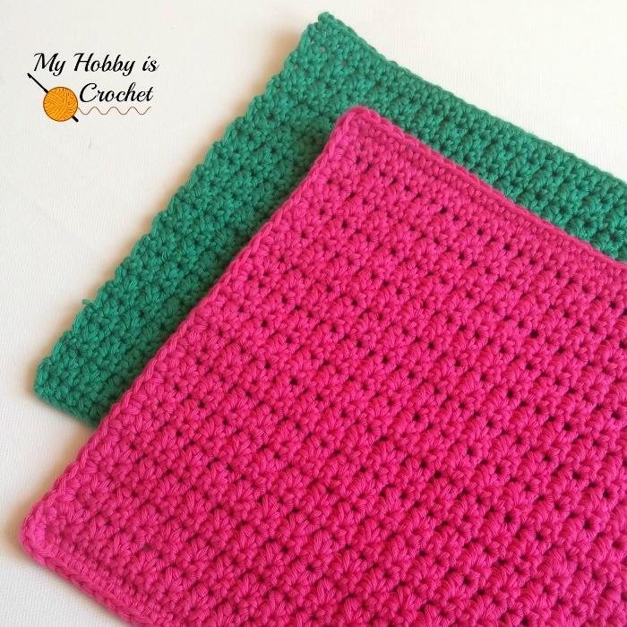 Crochet Patterns For Beginners Dishcloths : Easy Crochet Dishcloth AllFreeCrochet.com