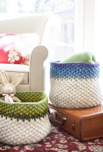 Trendy Colorblock Baskets