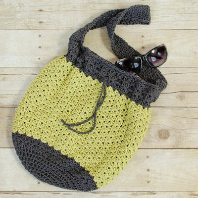 Summer Crochet Bucket Bag AllFreeCrochet.com