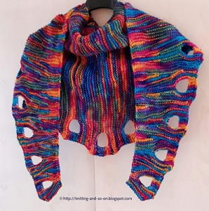 ocean sunset eyelet scarf allfreeknittingcom
