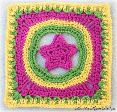 Shining Star Crochet Granny Square AllFreeCrochet.com