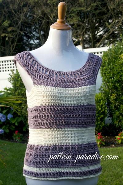 Garden Crochet Tank Top AllFreeCrochet.com