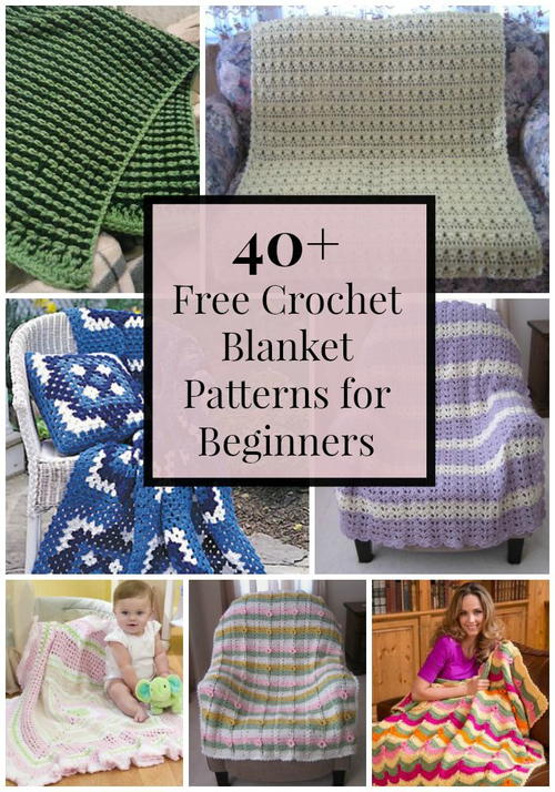 40+ Free Crochet Blanket Patterns for Beginners ...